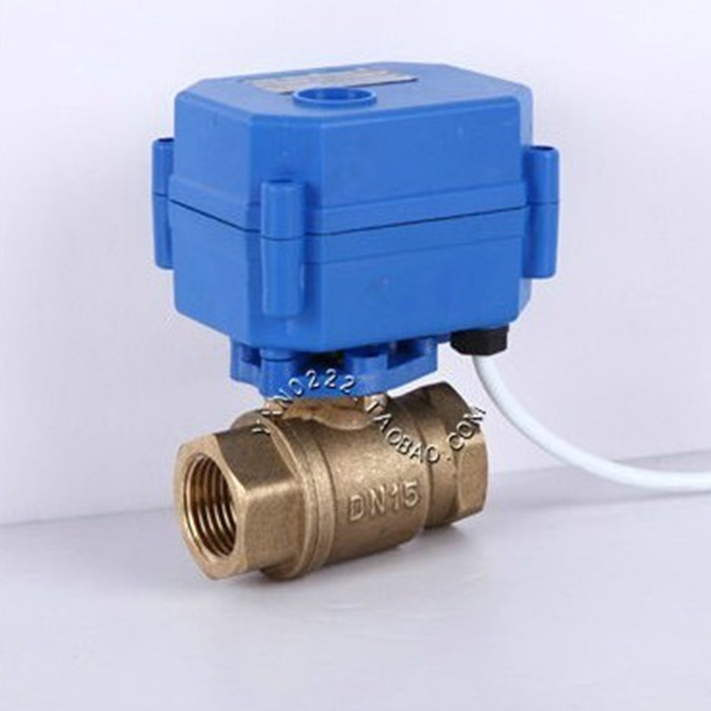Free shipping electric brass <font><b>ball</b></font> <font><b>valve</b></font> DN15 DN20 DN25 DC5V <font><b>12V</b></font> 24V AC220V <font><b>motorized</b></font> <font><b>valve</b></font> for water image