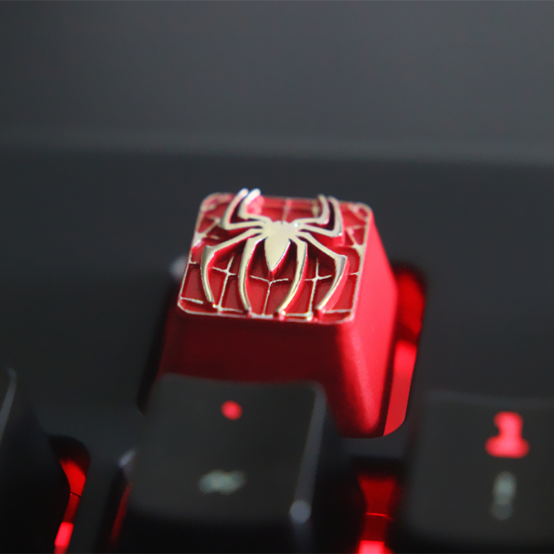 Metal Personality Keycap Game Peripheral Mechanical Keyboard Compatible with Cherry Shaft