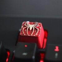 Personalidade de Metal Keycap Teclado Mecânico Jogo Periférico Compatível com Eixo Cereja