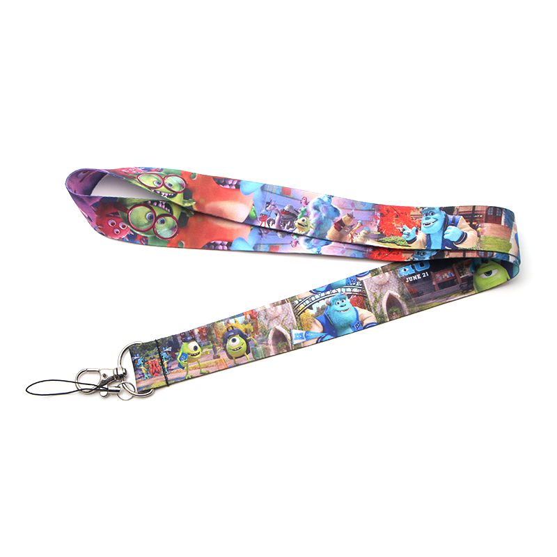 Flyingbee Monster Keychain Lanyard Badge Lanyards Mobile Phone Rope Keyring Key Lanyard Neck Strap Accessories X0129