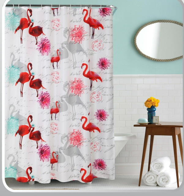 online get cheap pink flamingo shower curtain -aliexpress