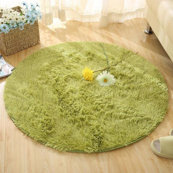 New Plush Shaggy Soft Round Carpet Non Slip Water