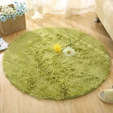 New Plush Shaggy Soft Round Carpet Non-Slip Water absorption Floor Rug Yoga Mat For Parlor Living Room Bedroom Home Supplies