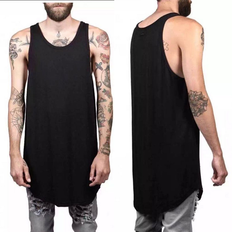 NEW Summer FASHION Bomulds tank top vest oversize street wear mænd hip hop undertrøje uden ærmer shirt vest Justin Bieber