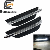 Eonstime DRL Daytime Running Lights For Mercedes Benz C Class W204 2011 2012 2013 12V LED Daylight Fog lamp dimming style Relay