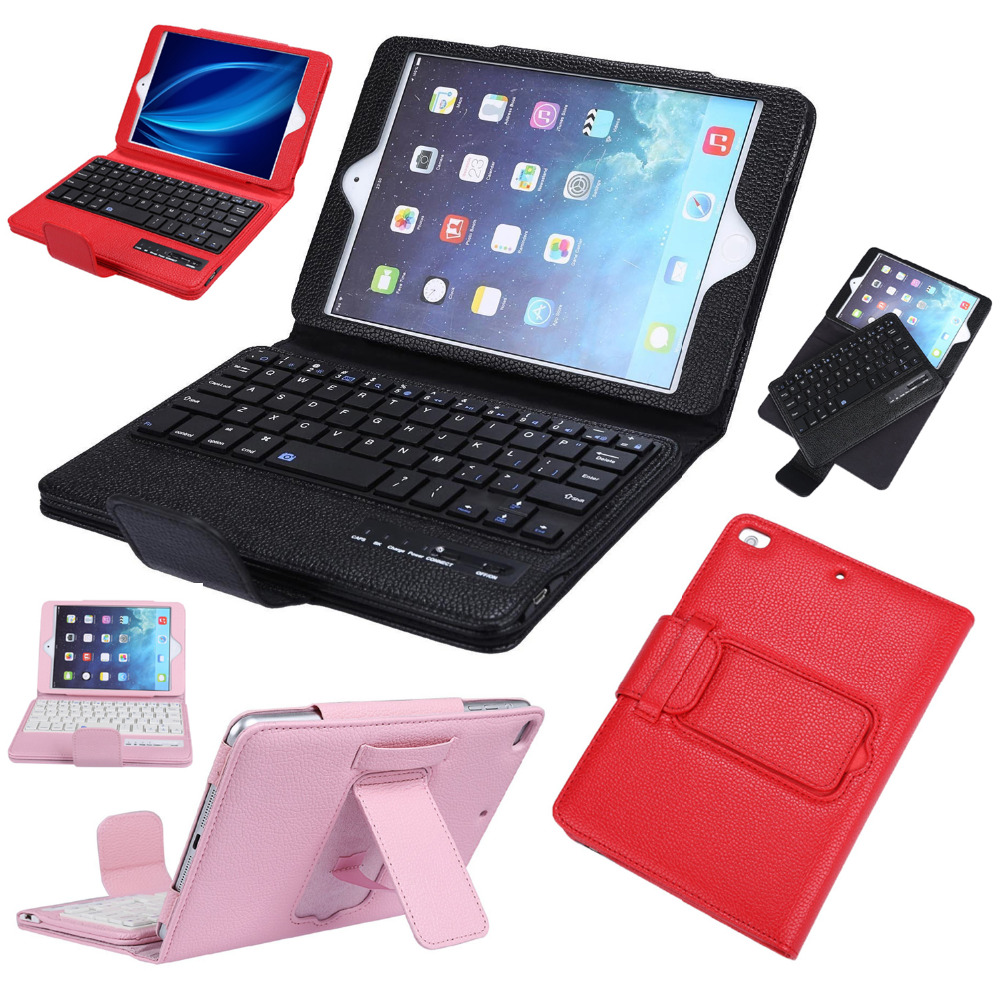 Removable Wireless Bluetooth Russian/Hebrew/Spanish Keyboard Stand Leather Funda Case Cover For Apple iPad Mini 1 2 3 4 Tablet стоимость