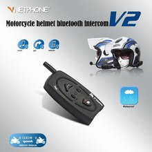 цены VNETPHONE V2-500m Motorcycle Intercom Helmet Headset Earphone 2 Biker Wireless Bluetooth Intercom Motorcyclists Skier Interphone