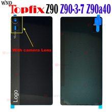 Back Glass Rear Cover Voor Lenovo Z90 Batterij Deur Behuizing Batterij Z90-3 Z90-7 Z90a40 Back Cover Voor Lenovo Vibe Shot z90 Case