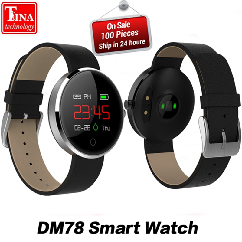 100% Original Men Women DM78 Smartwatch Fashion Sport Smart Watch Bluetooth Wearable Devices For Android IOS Smart Watches