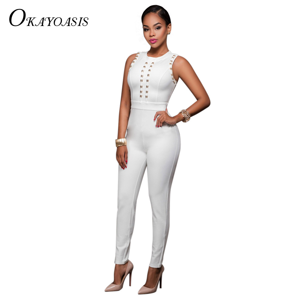 Size all white bodycon jumpsuit pants for women haul