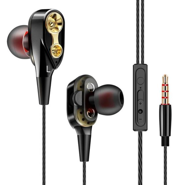 Wired Double Driver In-Ear Earphones