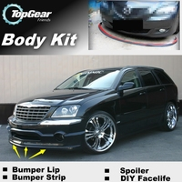Bumper Lip Deflector Lips For Chrysler Pacifica Front Spoiler Skirt For TopGea Fans to Car View Tuning / Body Kit / Strip