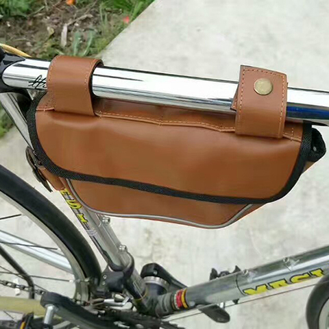 Retro Bike Bag Triangle Package Saddle Bag On The Tube Riding Equipment for Fixed Gear Rode Bike Bags Karachi