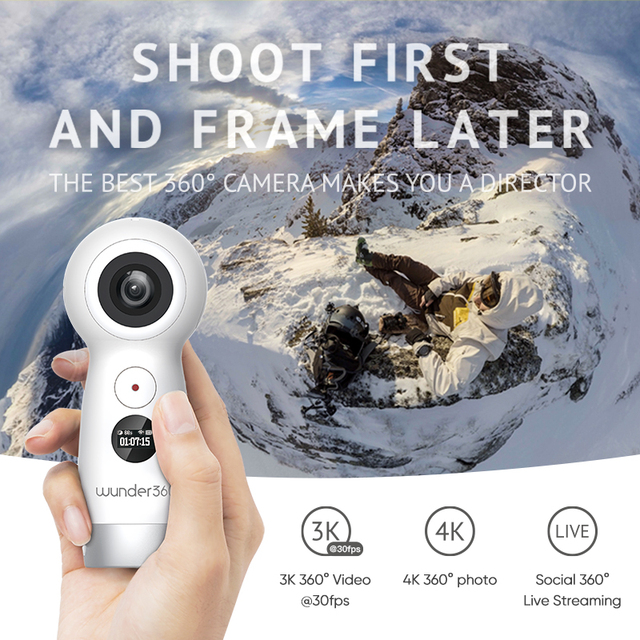 US $199 0 |Wunder360 Global Version 360 Panorama Camera Smart Webcam  Popular Version 360 Angle Video Recording WiFi for iphone 6s oppo Mi -in  360°