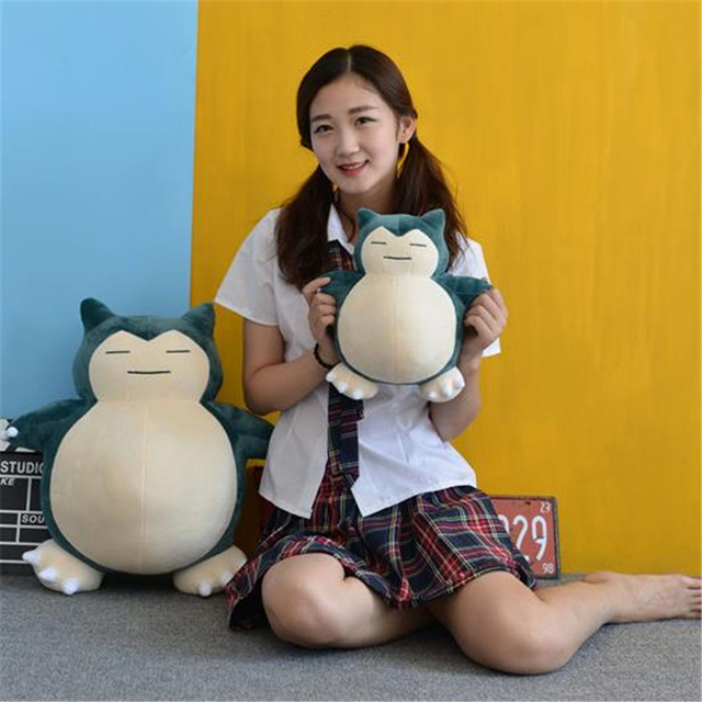 Anime Pokemon Snorlax Cosplay Props Toys Pillow Soft Cotton Kawaii Plush Doll 30cm 50cm Height Kids Child Teens Girls Collection 4
