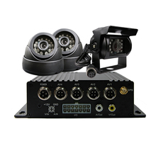 4CH SD 256G H.264 I/O GPS Track Car Vehicle DVR Video Recorder Kit CCTV SONY CCD 600TVL Camera For Truck Van Bus Free Shipping