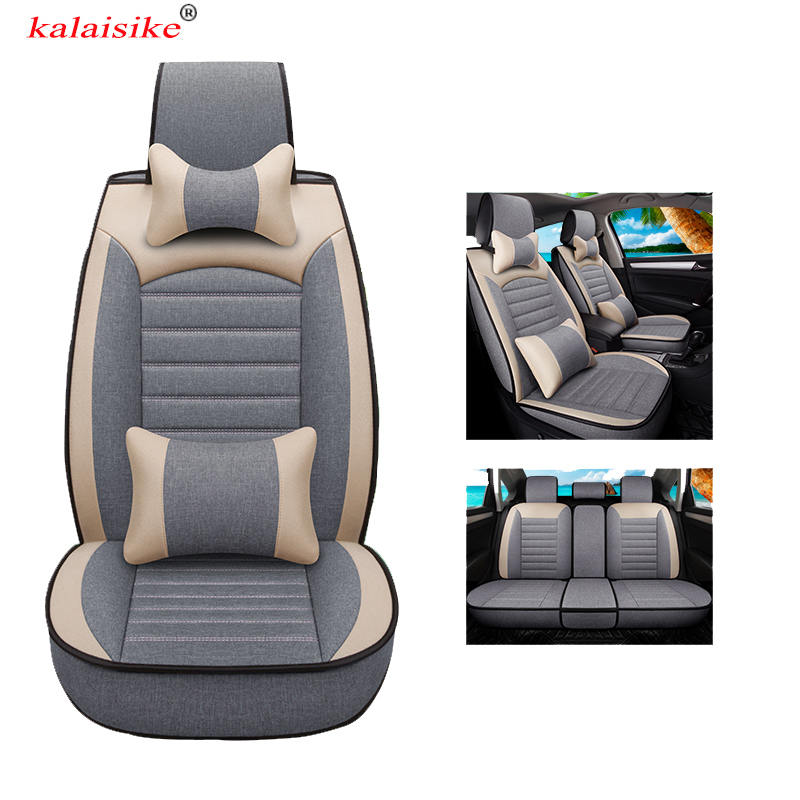kalaisike universal Flax car seat covers for Volkswagen all models VW touareg JETTA passat touran Variant magotan polo golf
