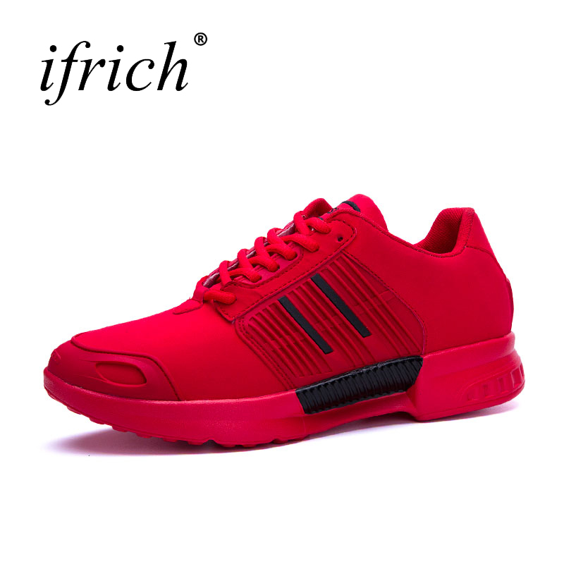 Ifrich New Arrival Men Sport Running Shoes Mesh Men Running Sneakers Black Red Sport Shoes Men Running Shoes Brand Cheap
