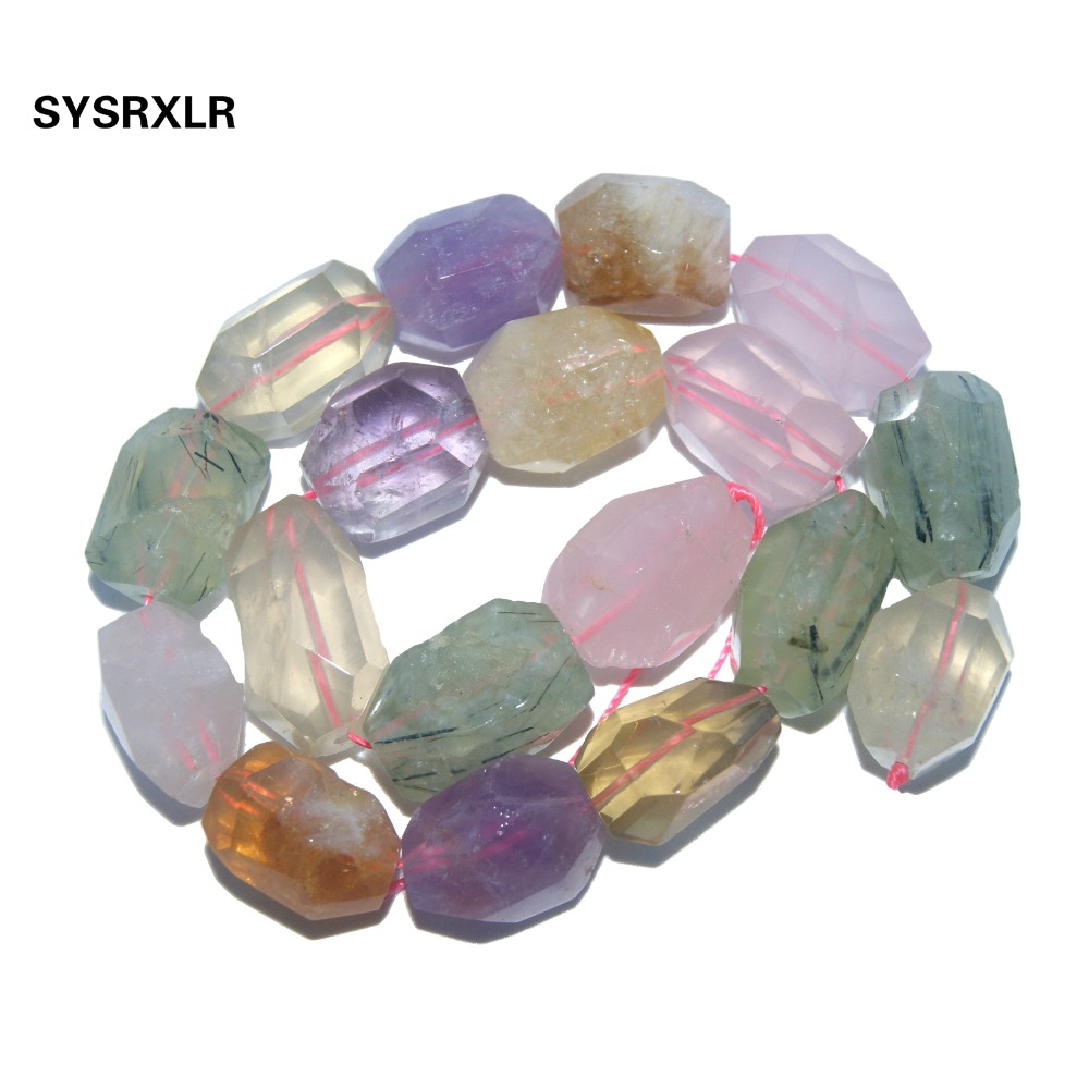 Natural Stone Bead Irregular Shape Pink Quartz Amethysts Agates Lapis lazuli Tiger Eye Amazon For Jewelry Making DIY Necklace in Beads from Jewelry Accessories