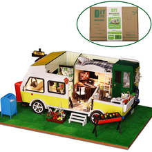 Doll House Furniture DIY Miniature 3D Model Doll Houses Wooden Miniature Dollhouse Assembly Toys for Children Leisure Holiday handicraft toy diy wooden doll house castle building blocks children handcraft miniature projec kit manual assembly 3d model