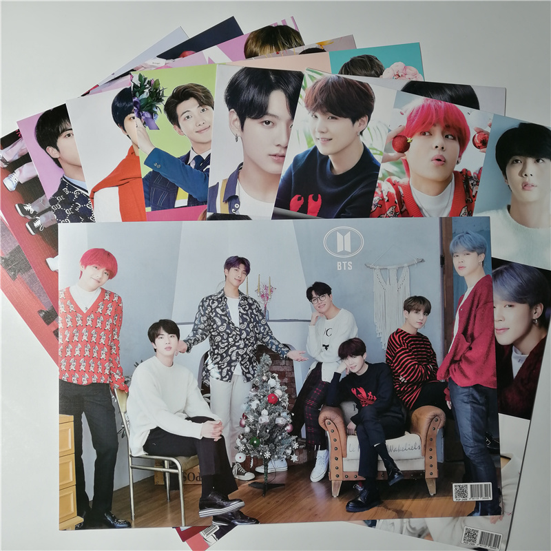 8*(42x29cm)<font><b>KPOP</b></font> Korean stars( Bangtan Boys BLACKPINK GOT7 WANNA ONE EXO <font><b>BIGBANG</b></font> ) <font><b>Posters</b></font> Wall Stickers <font><b>kpop</b></font> all stars image