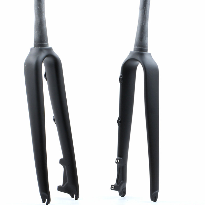 carbon fiber bicycle fork carbon fiber front fork road bicycle front Disc brake fork bicycle parts 700C 1 1/8 HIMALO-in Bicycle Fork from Sports & Entertainment    1