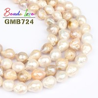 11 14mm Natural Irregular Baroque White Light Purple Pearl Beads for Jewelry Making Loose Spacer Bead Diy Necklace Bracelet 15'
