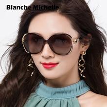 Blanche Michelle Fashion Oversized Polarized Sunglasses Women UV400 Brand Gradient lens Sun Glasses oculos With Box
