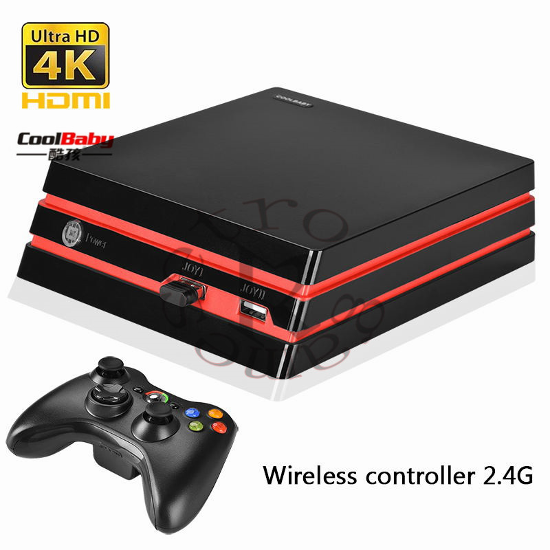 COOLBABY RS-93 Retro Game Console Wireless Controller Version of the Game Console Built-in600 Classic Games Entertainment system