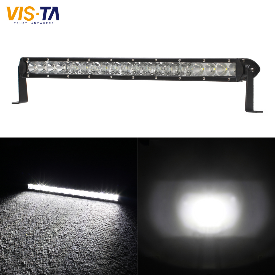 High Quality Slim 100W 10000LM CREE Chips LED Work Light 9-32V DC IP67 Bar Spot Flood Beam Offroad Work Lamp for Truck ATV Boat 1pcs 120w 12 12v 24v led light bar spot flood combo beam led work light offroad led driving lamp for suv atv utv wagon 4wd 4x4