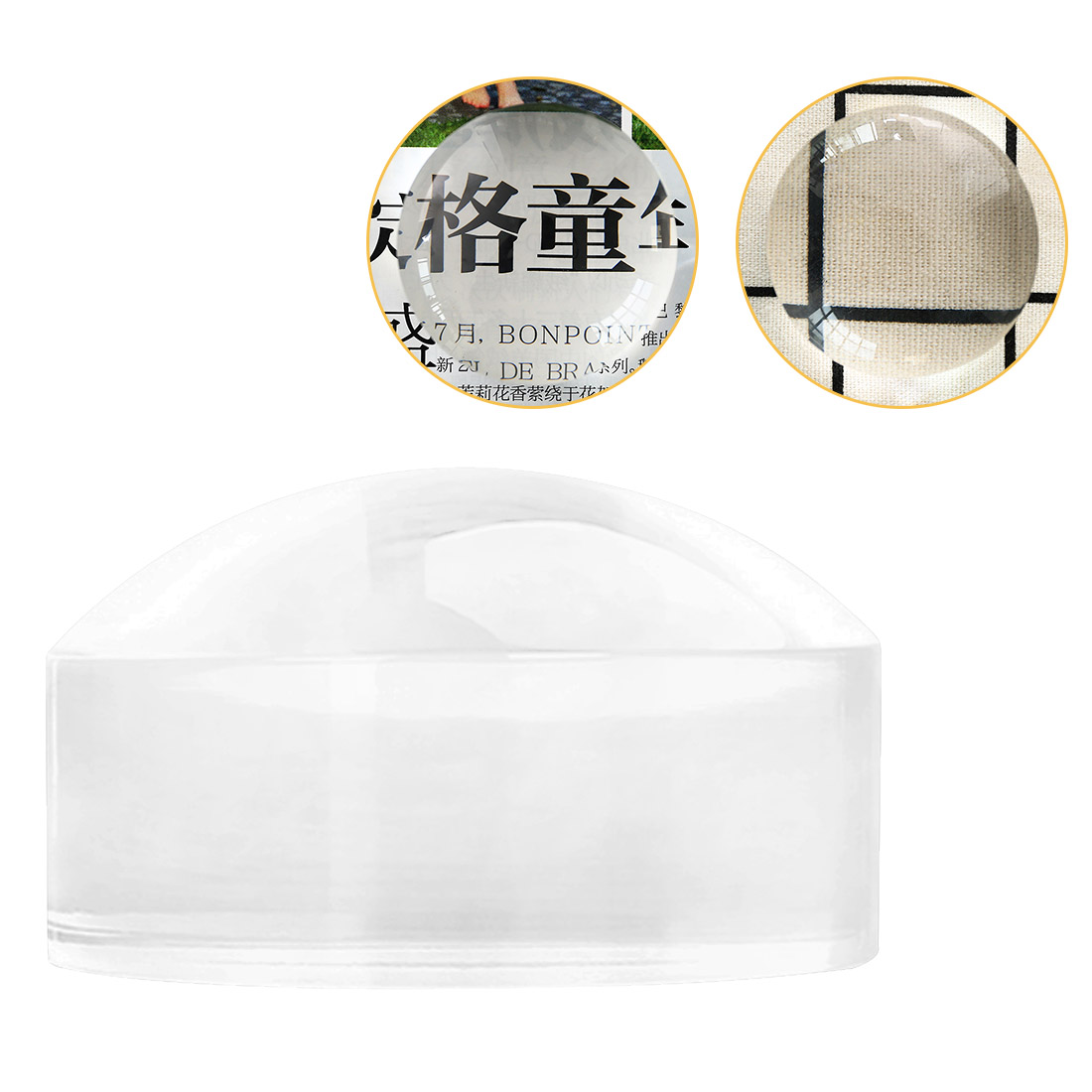 8X 50mm 7X 60mm Magnifier Loupe Crystal Acrylic Magnifying Glass Reading Dome Paperweight Map Magnifying Tool For Reading Aid