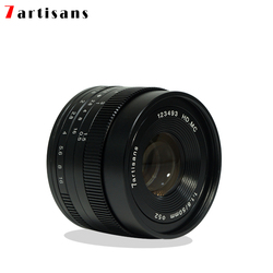 7 artisans 50mm F1.8 Large aperture manual fixed focus micro-single camera lens for canon M sony E-Mount or M4 / 3 Fuji-XF camer