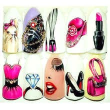1 шт горячая мода для женщин сексуальная девушка макияж искусство ногтей переводная наклейка слайдер маникюр обертывания инструмент кончик украшения JISTZ506