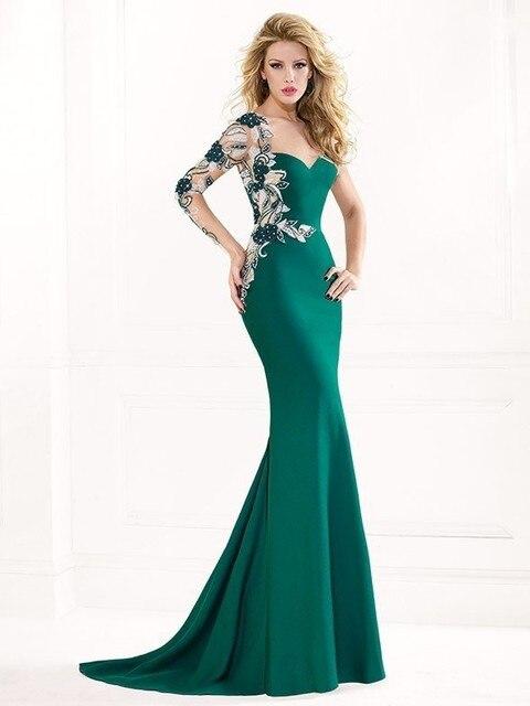 2015 Vestido Vestidos De Fiesta Wholesale Tarik Ediz Floor Length ...
