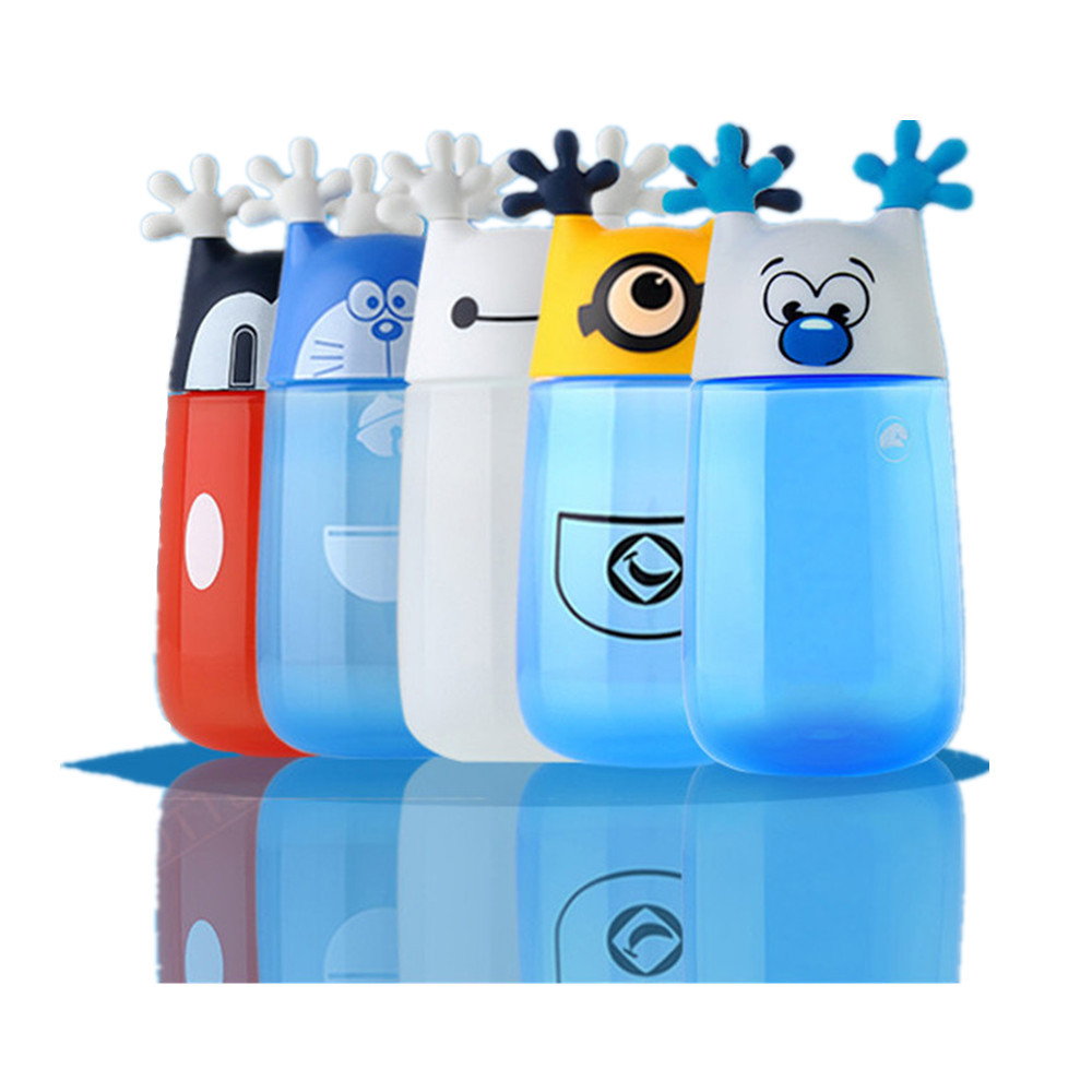 1 Piece 350ml Cute Cartoon Minions Water Bottle Eco-friendly Plastic Portable Kids Water Bottle Children Birthday Drinkware Gift
