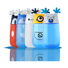 1 Piece 350ml Cute Cartoon Minions Water Bottle Eco-friendly Plastic Portable Kids Water Bottle Children Birthday Drinkware Gift(China)