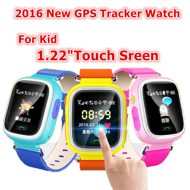 1.22inch HD Touch Screen SOS Call Wristwatch Safe GPS/LBS Location Fin