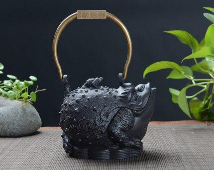 Handmade Old Iron Toad Teakettle 1200ml 2
