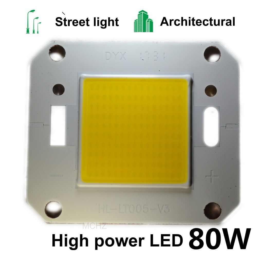 1 piezas COB LED de Chip de alta potencia brillo 20 W 30 W 50 W 70 W 80 W necesita controlador DIY para foco de luz LED COB Chips