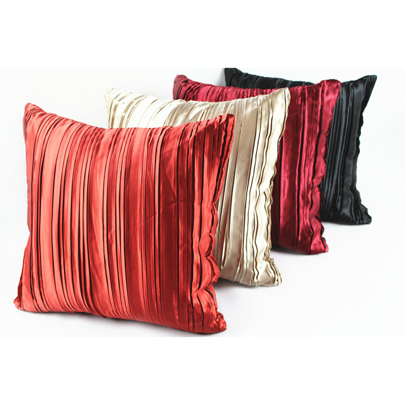 45 45cm Sofa Cushion Covers Polyester Satin Wedding Party