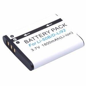 Image 4 - Probty 1800mAh Li 50B Rechargeable Li ion Battery For Olympus Mju 1020 SP 800UZ Stylus 1010 u 1010 Ricoh CX3 CX4 D LI92 DLI92