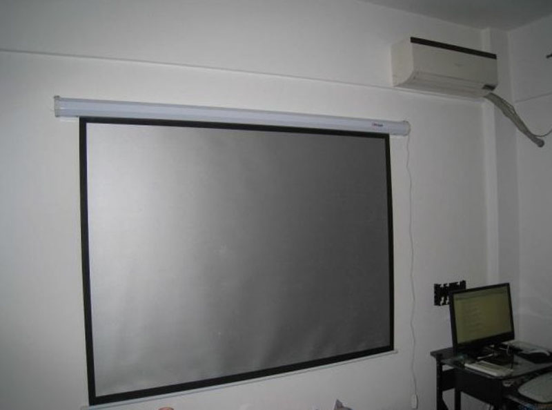 Popular Electric Silver Projector Screen Buy Cheap