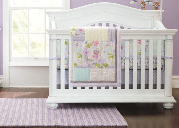 Promotion! 4pcs Embroidery Baby Girl Bedding Set Quilt Nursery Cot Crib Bedding ,include (bumpers+duvet+bed cover+bed skirt)