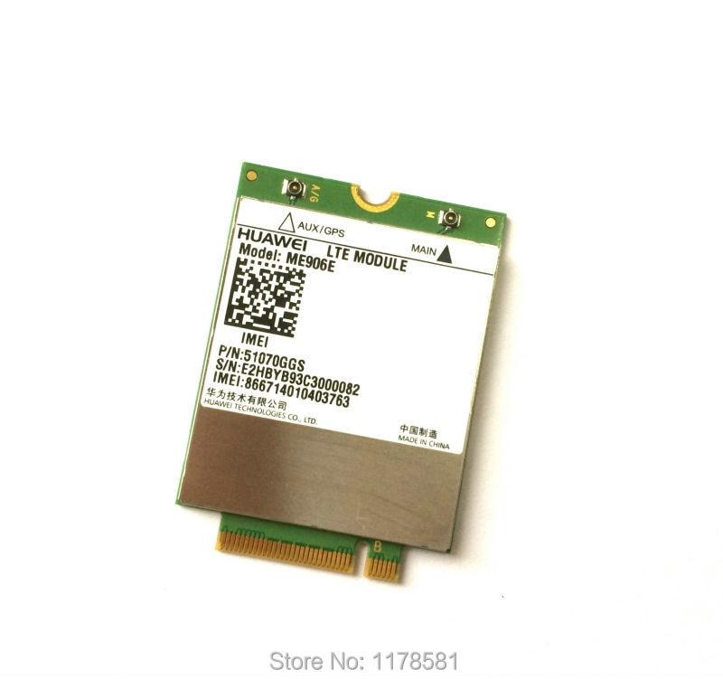 Unlocked ME906E + 2PCS IPX4 NGFF M.2 Antenna 100% Original FDD LTE 4G WCDMA GSM surpport GPS Module stock huawei me936 4 g lte module ngff wcdma quad band edge gprs gsm penta band dc hspa hsp wwan card