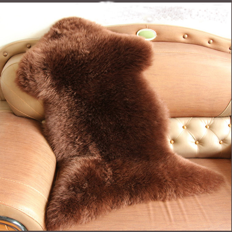 Dog Fur Rugs: Brown Sheepskin Rug Real Fur Blanket For Bed Bedrooms