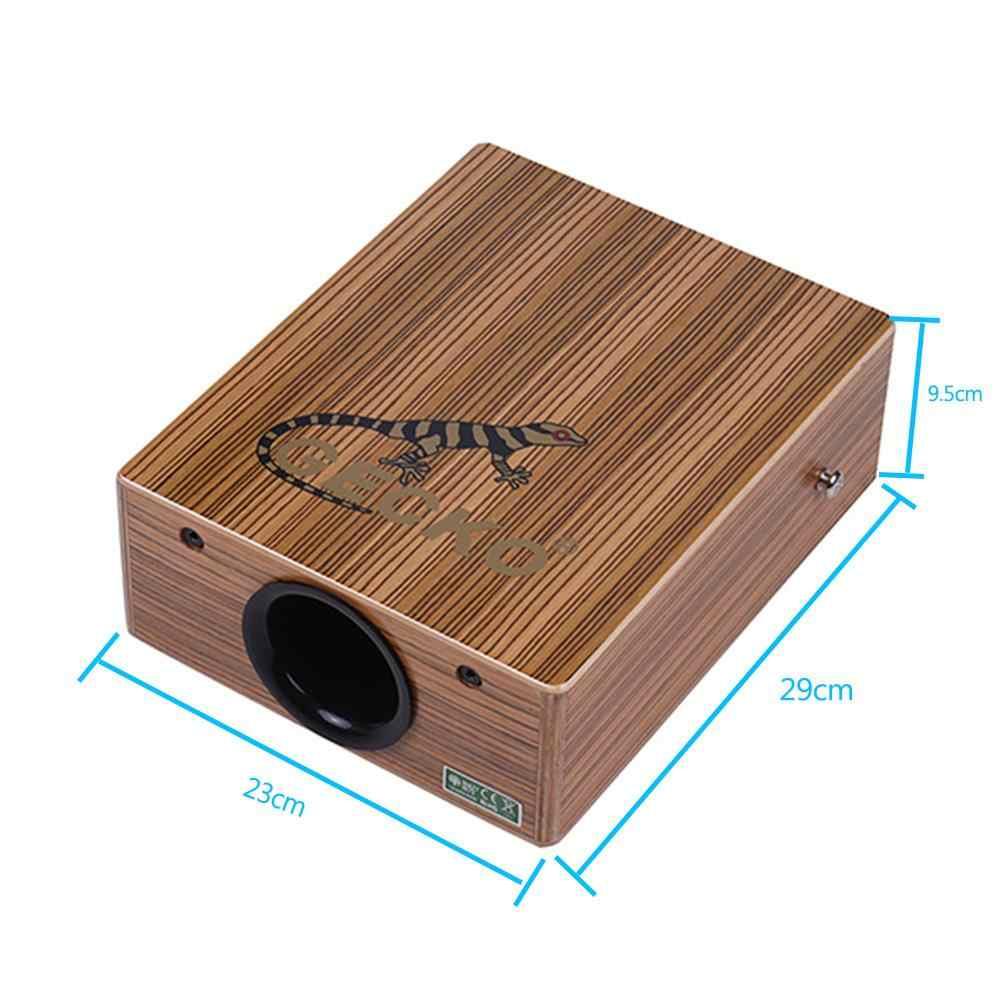 GECKO C-68Z барабан Cajon путешествия коробка барабан портативный деревянный ручной барабан ударный инструмент с ремешком настроечный ключ сумка для переноски
