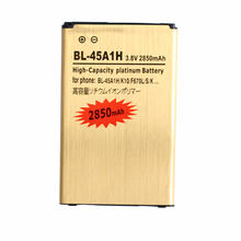 Ciszean 2850mAh BL-45A1H / BL45A1H Gold Replacement Battery For LG K10 F670L F670K F670S F670 K420N K10 LTE Q10 K420 batteries(China)
