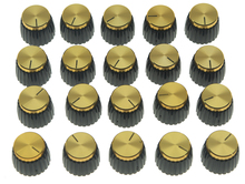 Kaish 20x Guitarras AMP Amplificadores perillas negro con tapa de oro empuje en perillas encaja Marshall