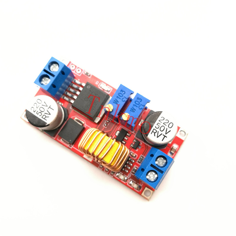 1PCS 5A DC to DC CC CV Lithium Battery Step down Charging Board Led Power Converter Lithium Charger Step Down Module XL4015 1pcs 1500w 30a dc dc cc cv boost converter step up power supply charger adjustable dc dc booster adapter 10 60v to 12 90v module