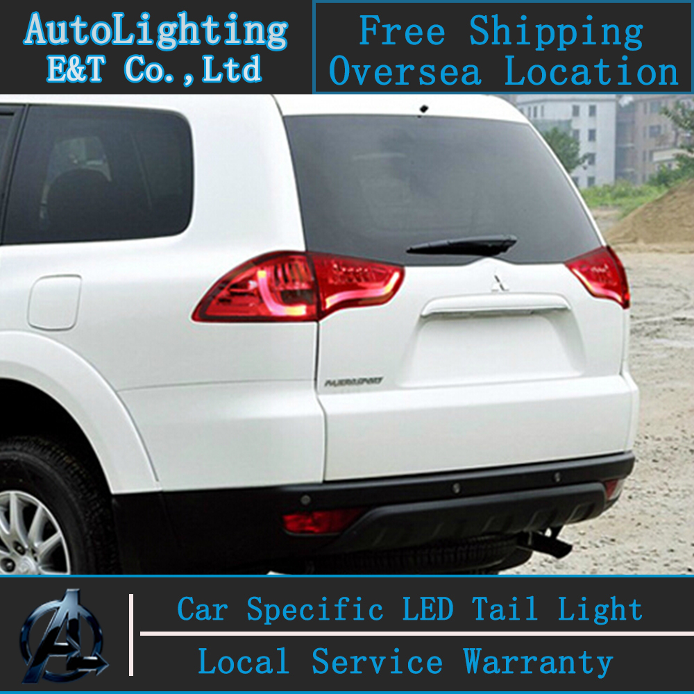 Auto Lighting Style LED Tail Lamp for Mitsubishi Pajero tail lights 2008-2014 rear trunk lamp cover drl+signal+brake+reverse